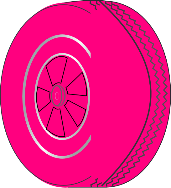 Clip art at clker. Wheel clipart pink