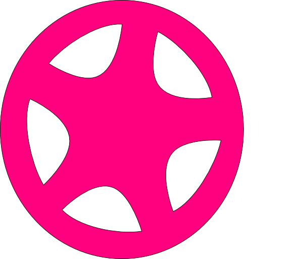 Wheel clipart pink. Clip art at clker