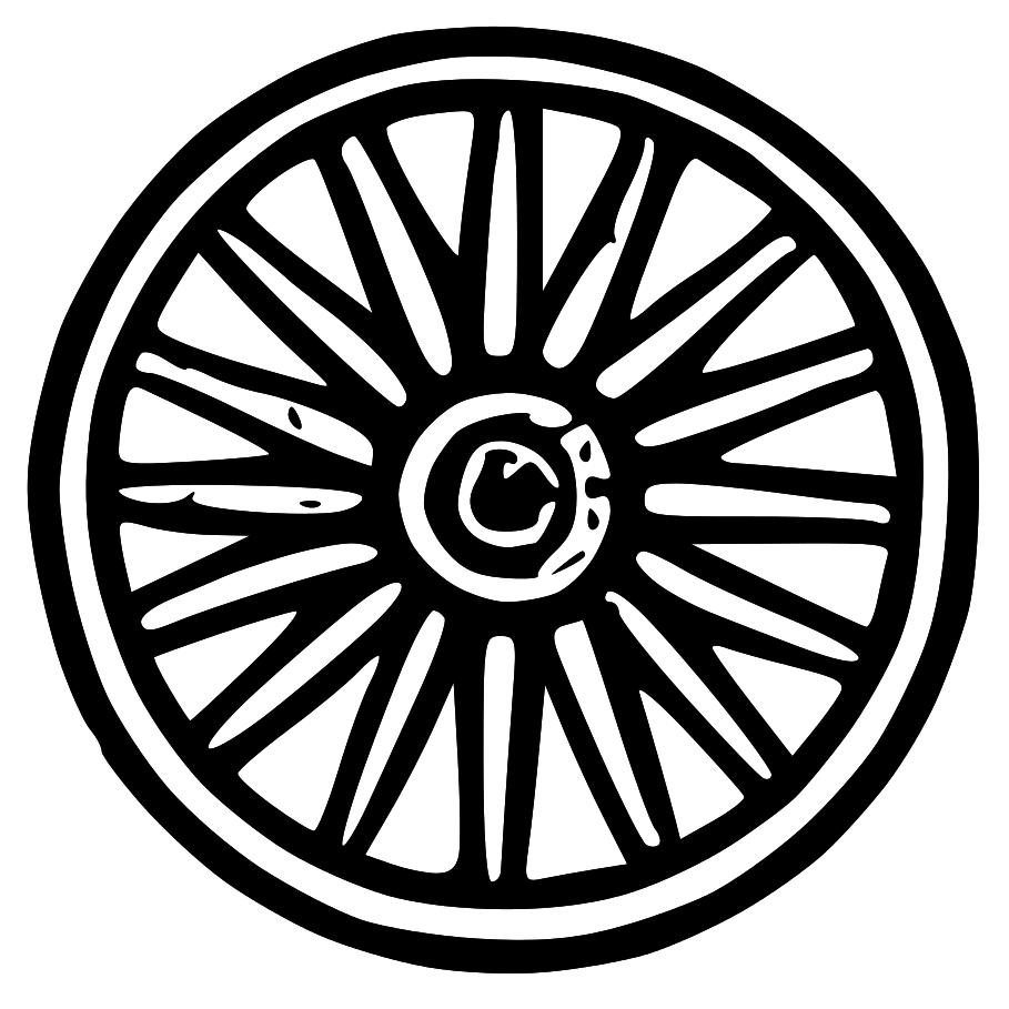 Wheel clipart pioneer. Wagon clip art library