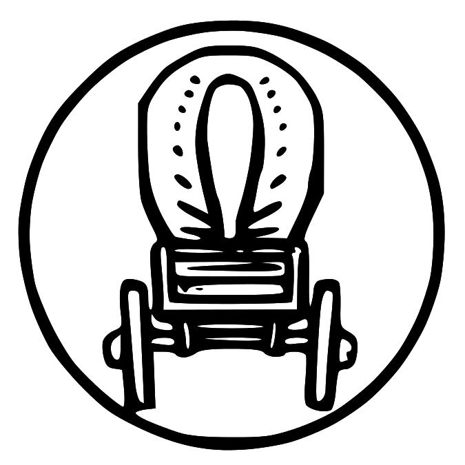 Wagon clip art library. Wheel clipart pioneer