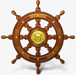 Wheel clipart pirate boat. Ship steering png control