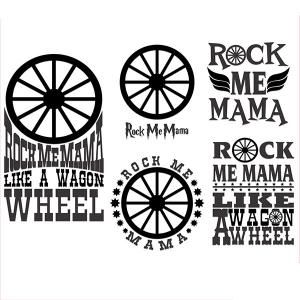 Wheel clipart rock. Me mama like a
