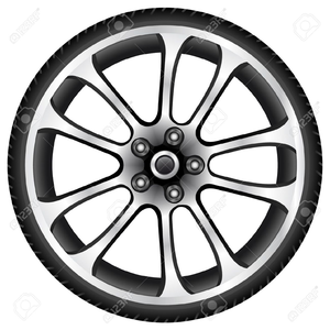 Free images at clker. Wheel clipart rock