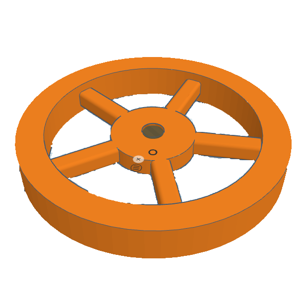 Tinkercad design of fs. Wheel clipart round object