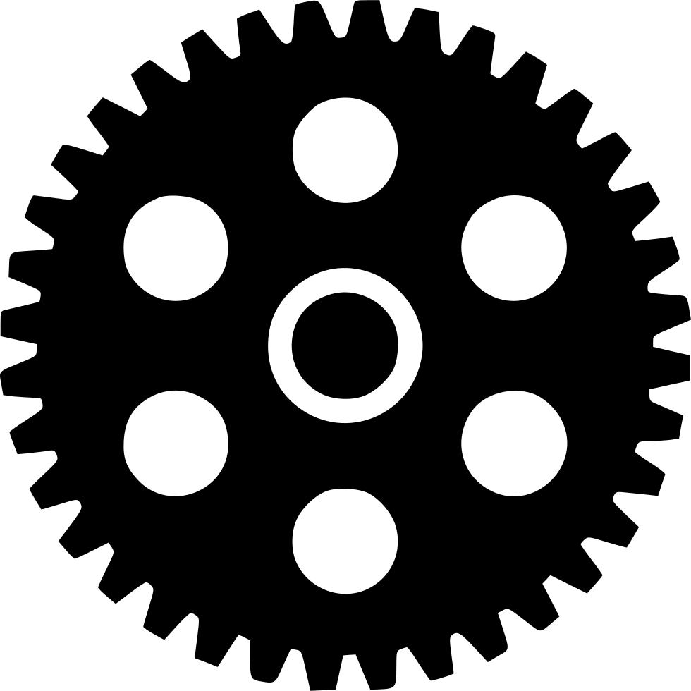 Wheel clipart round object. Cogwheel element fix gearwheelindustry