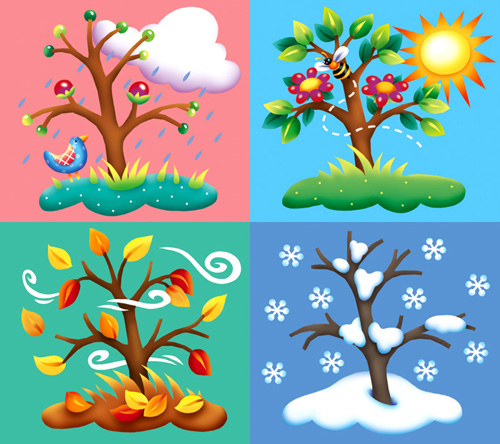 Free four cliparts download. Wheel clipart seasons