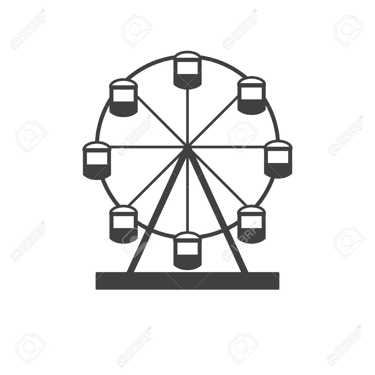 Wheel clipart simple. Ferris drawing free download