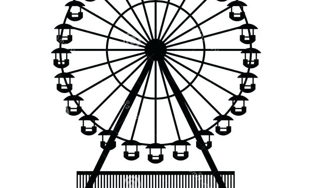 Ferris drawing at paintingvalley. Wheel clipart simple