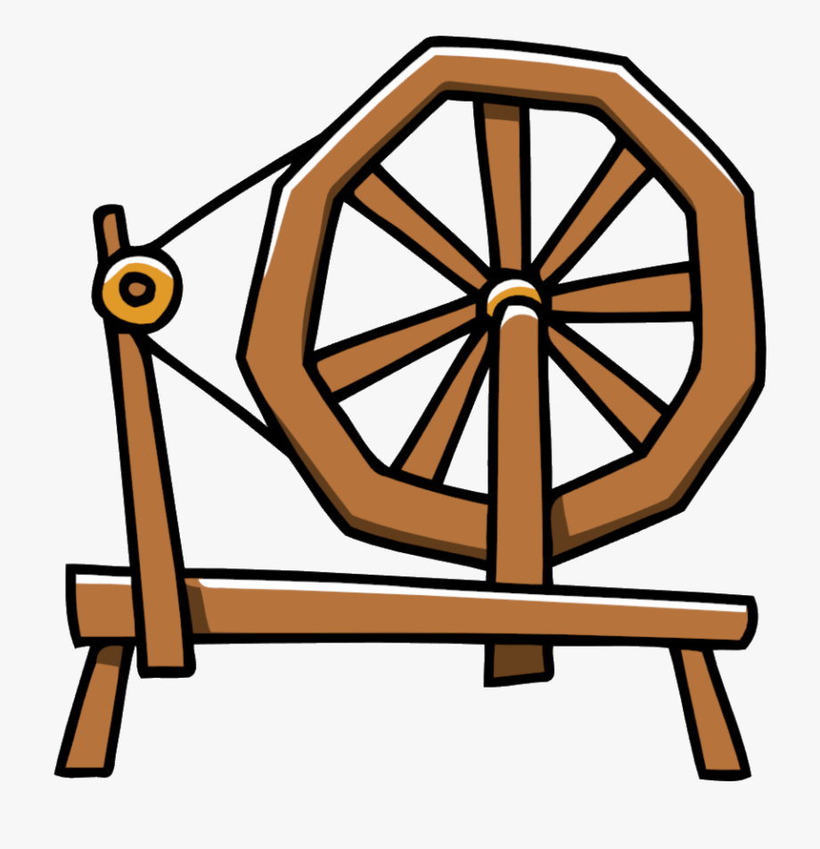 Cliparts cartoons . Wheel clipart spinning jenny