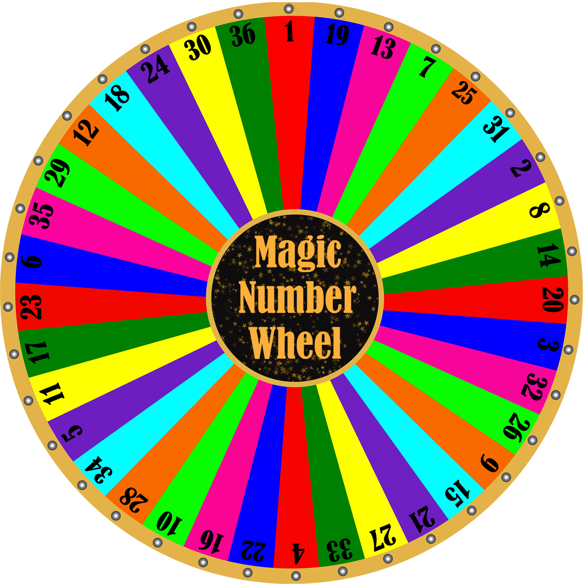 Magic number boom industries. Wheel clipart spinning wheel