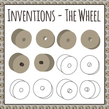 Inventions the clip art. Wheel clipart stone age