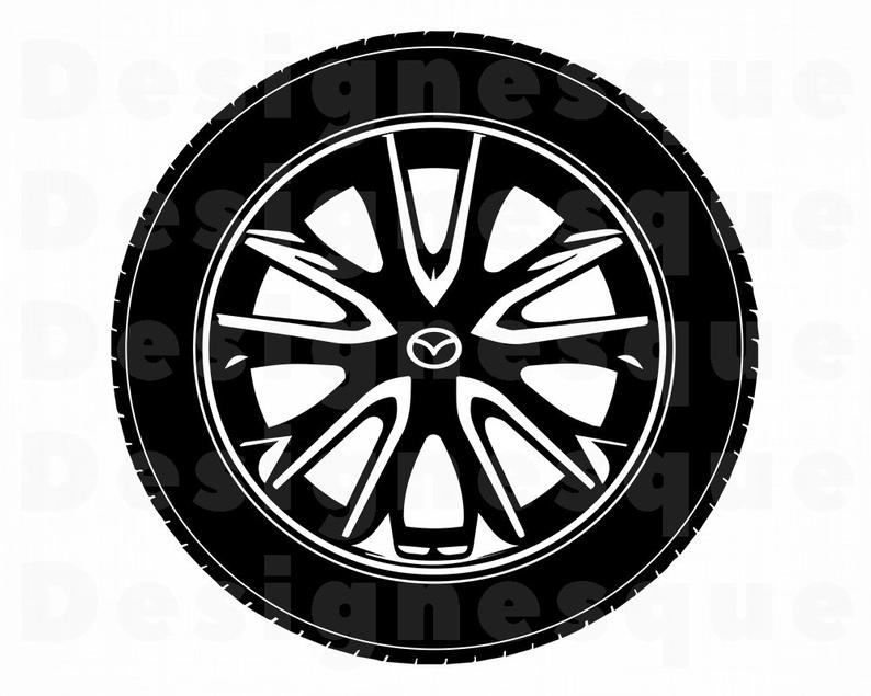Car tire files for. Wheel clipart svg