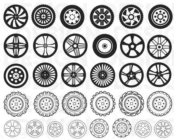 Wheel clipart svg. Tires car alloy wheels