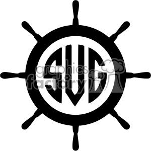 Wheel clipart svg. Ship monogram cut file