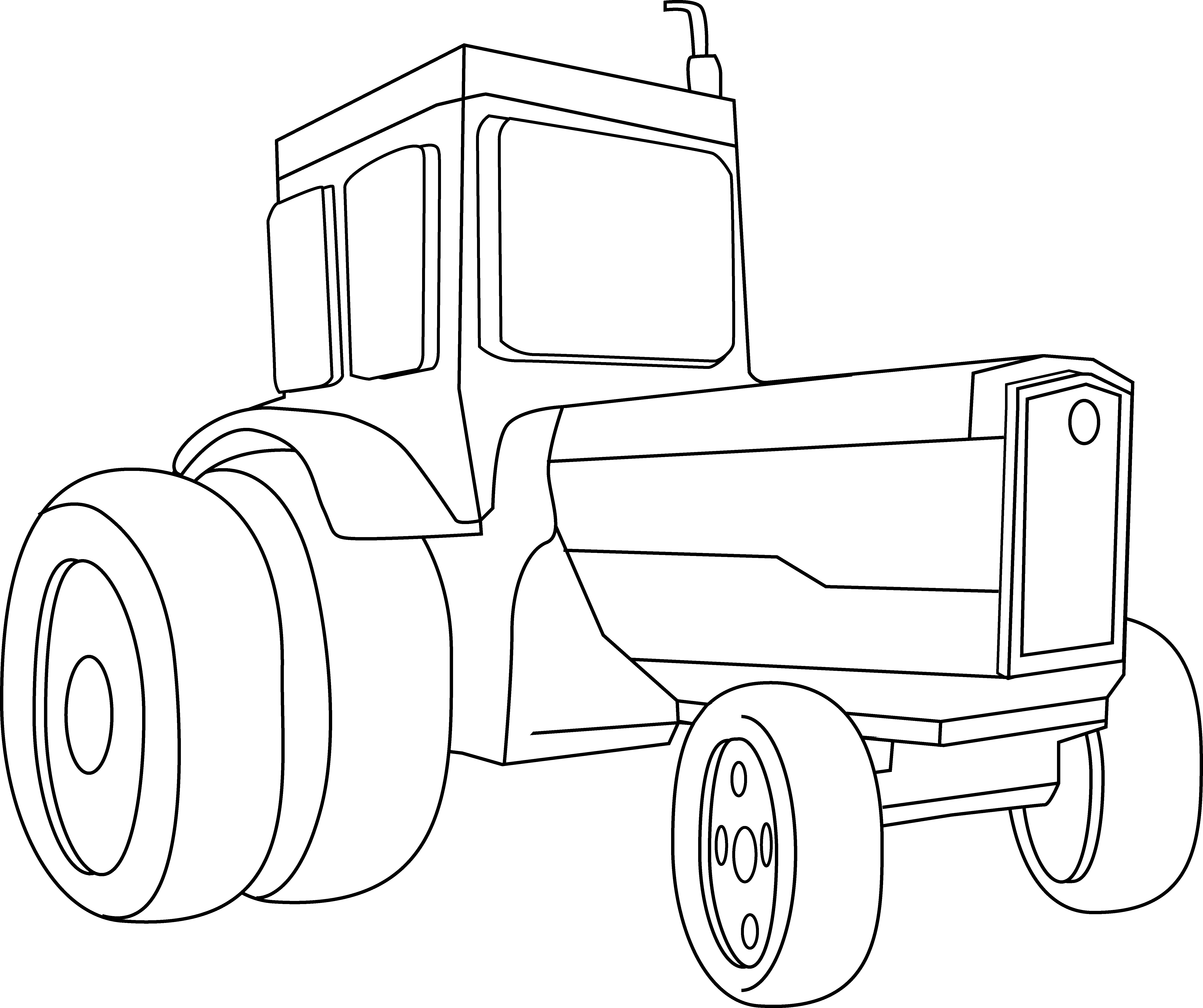 Coloring page free clip. Wheel clipart tractor wheel