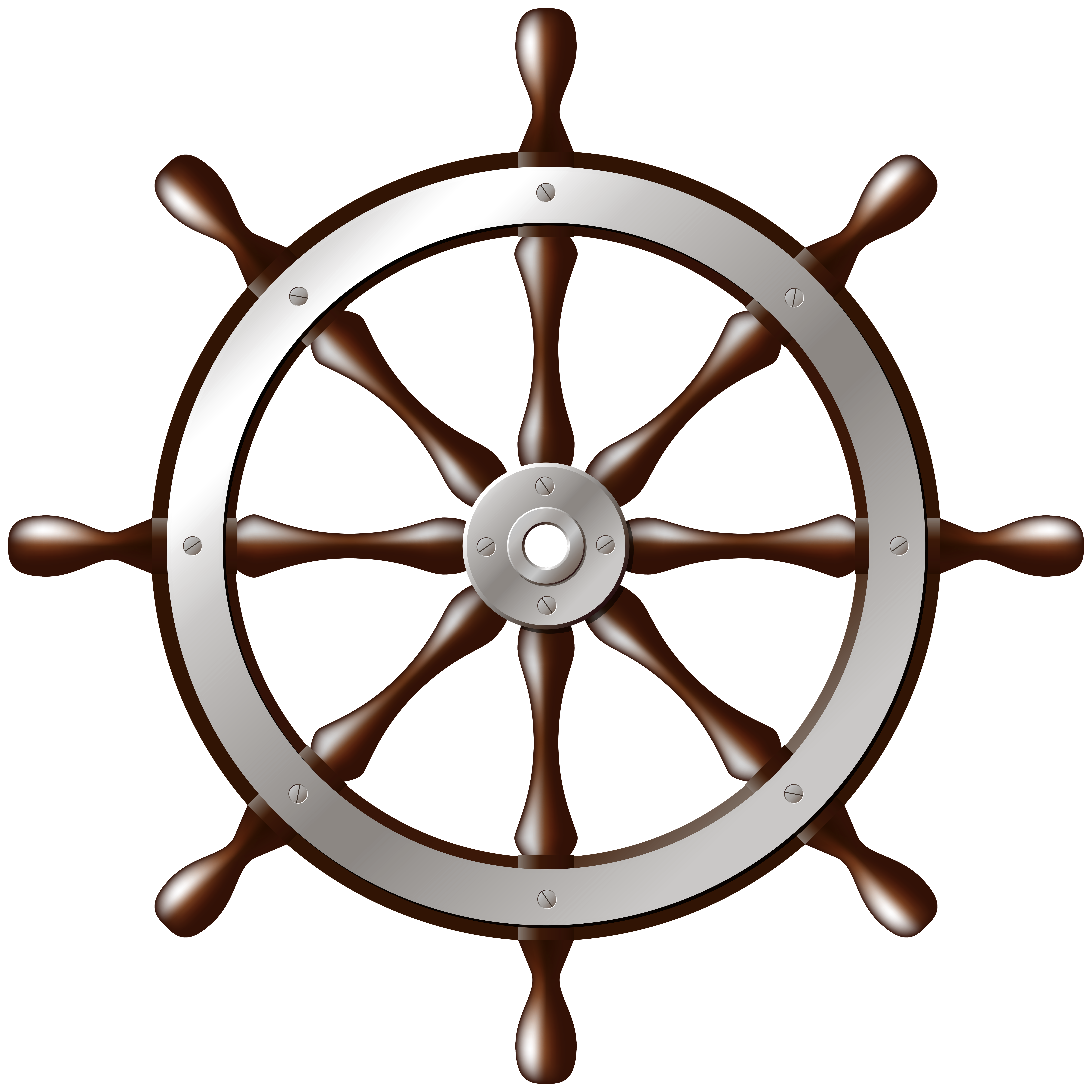 Wheel clipart transparent background. Ship silver png clip