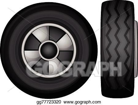 Wheel clipart tyre side. Clip art vector tyres