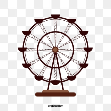 Ferris png psd and. Wheel clipart vector