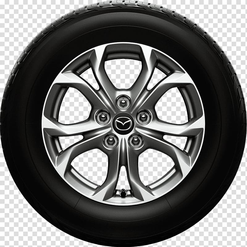 Gray mazda with tire. Wheel clipart vehicle