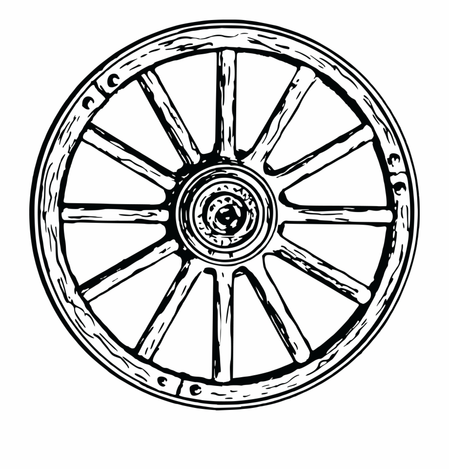 Transparent background picture clip. Wheel clipart wagon wheel