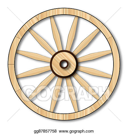 Stock illustrations light wagon. Wheel clipart western
