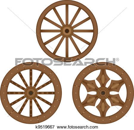 wagon clipartlook. Wheel clipart wood wheel
