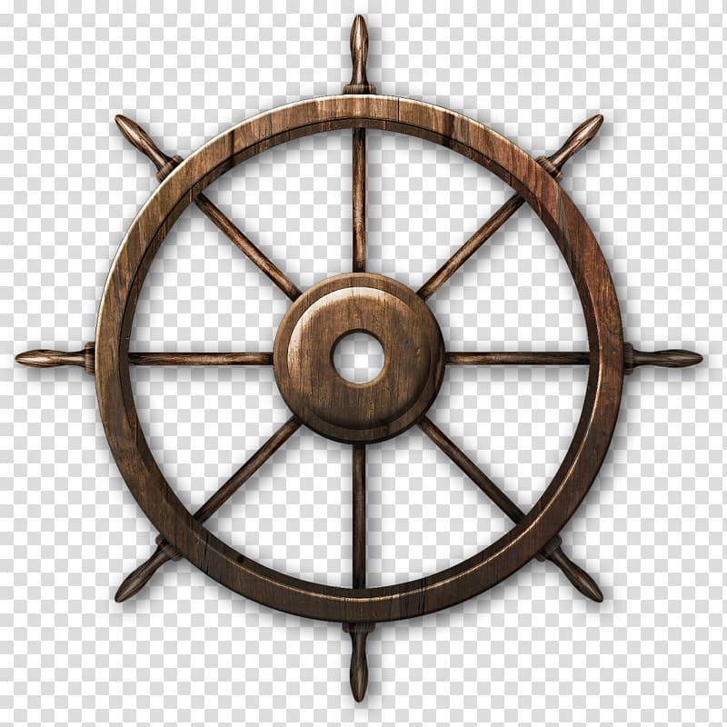 Wheel clipart wood wheel. Brown wooden ship s