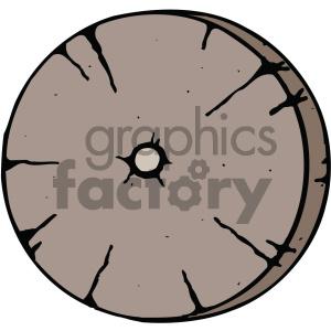 Wheel clipart wooden wheel. Cartoon image royalty free