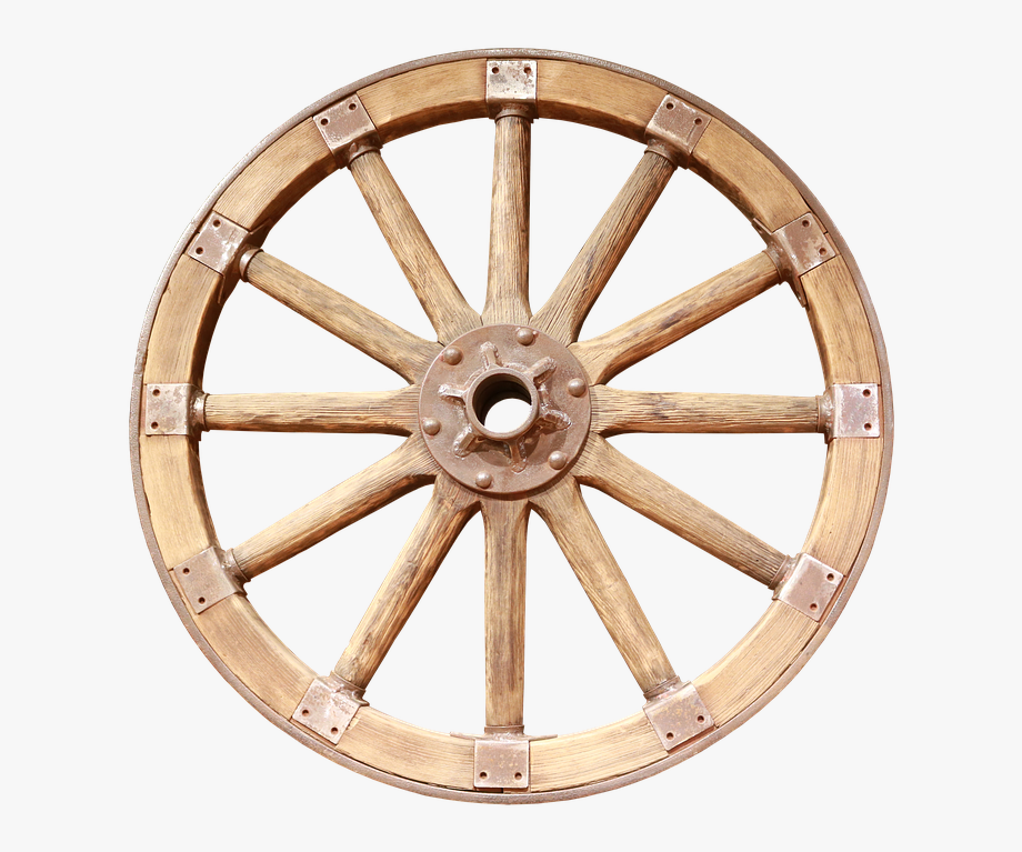 Wagon cart . Wheel clipart wooden wheel