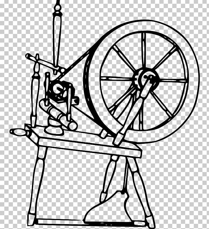Spinning drawing yarn textile. Wheel clipart wool