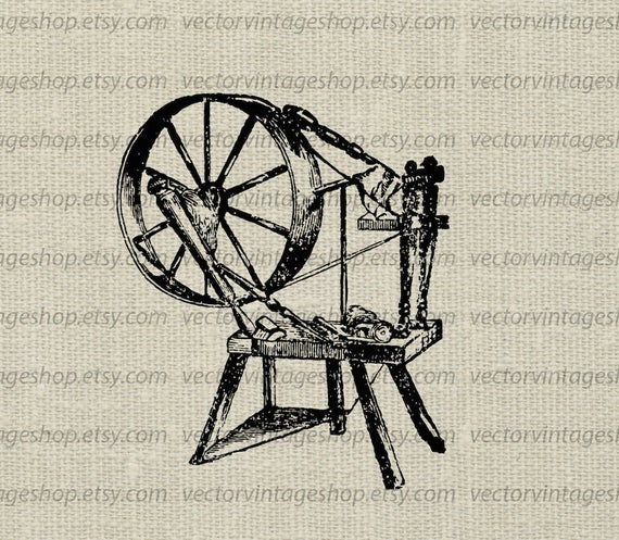 Spinning vector graphic instant. Wheel clipart wool