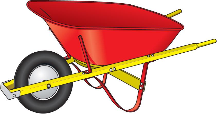 Free . Wheelbarrow clipart
