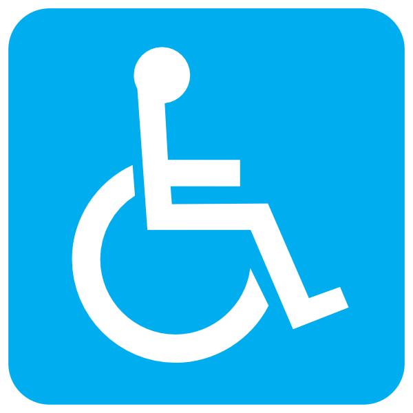 Blue clip art at. Wheelchair clipart