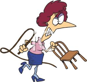 Whip clipart. An angry woman with