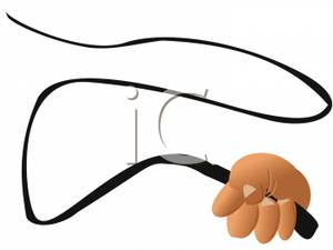 A hand holding . Whip clipart