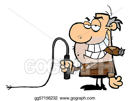 Whip clipart big. Vector illustration boss with