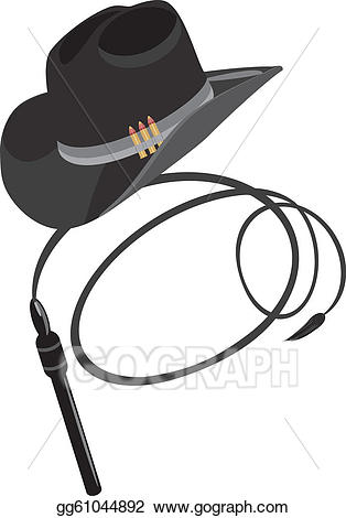 Eps illustration hat and. Whip clipart cowboy