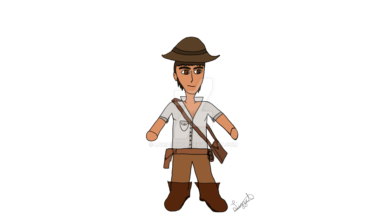 Chibi style by lariasrhor. Whip clipart indiana jones whip
