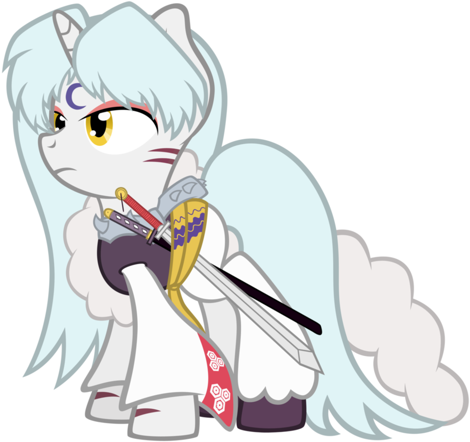 Sesshomaru ponified by on. Whip clipart scourge
