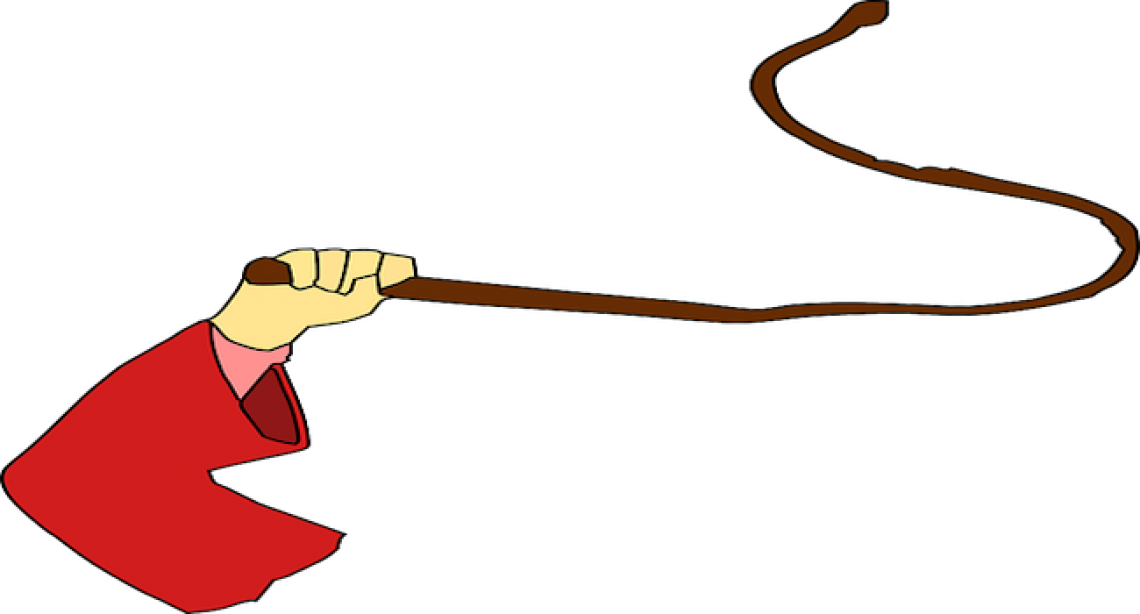 Whipping critics into line. Whip clipart whipped