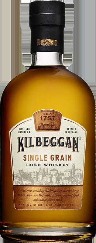 Kilbeggan single grain cl. Whiskey bottle png
