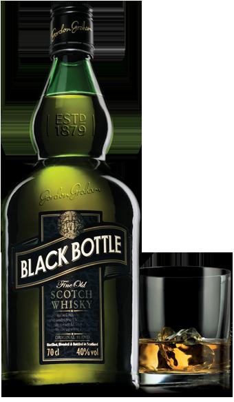 Black year old blended. Whiskey bottle png
