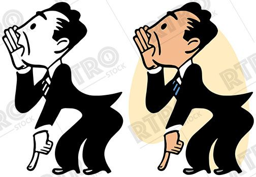 A businessman whispering and. Whisper clipart clip art
