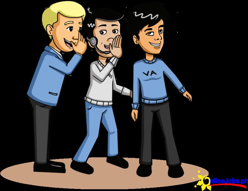 Hd cartoon transparent png. Whisper clipart gossip
