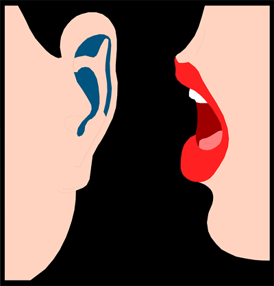 Free cliparts download clip. Whisper clipart in ear