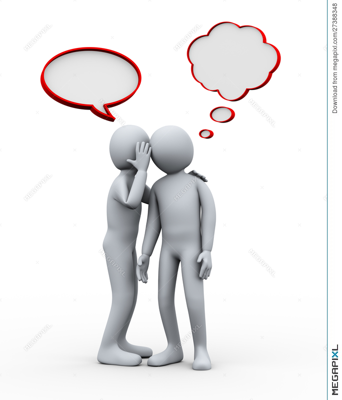 d people whispering. Whisper clipart last person