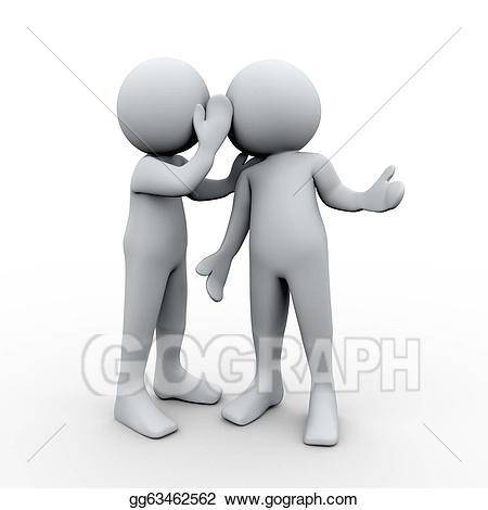 Whisper clipart last person. Drawing d secret whispering