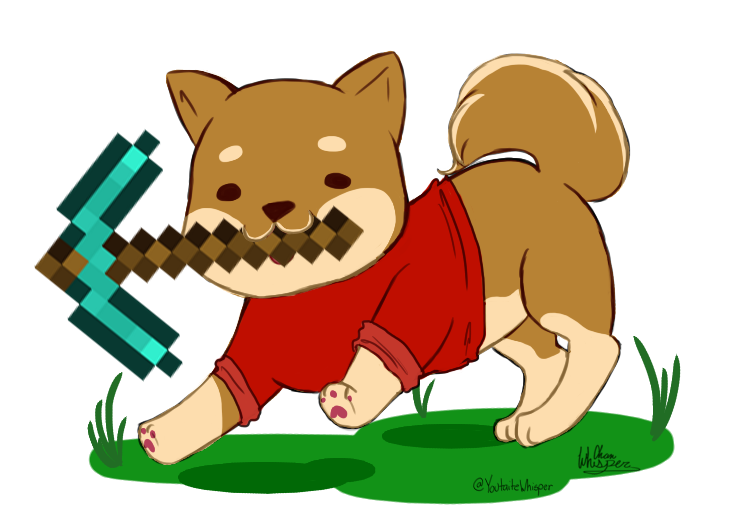 Whisper clipart last person. Minecraft doge by youtaite