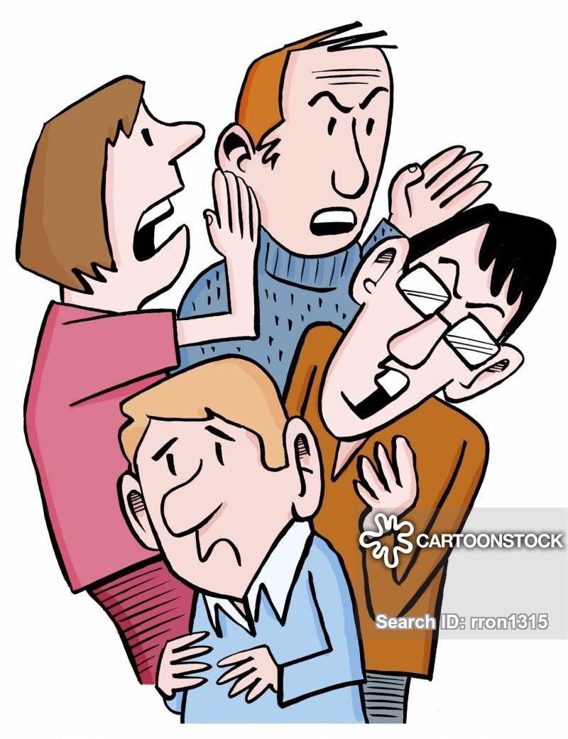 Whisper clipart office gossip. Rumour mongering cartoons and