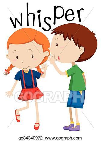 Whisper clipart quiet child. Clip art vector boy